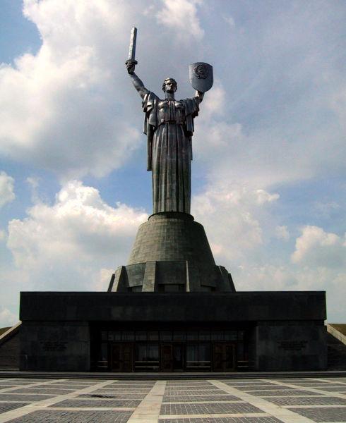 La mére Patrie est une statue ukrainienne