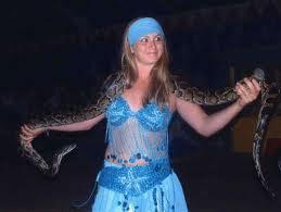 Le serpent sur les épaules de la demoiselle est un...
